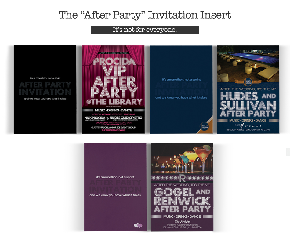 """The """"After Party"""" Invitation Insert – Sofia + Abbie"""